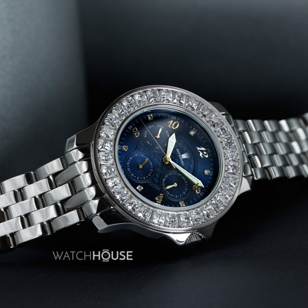 Astboerg Royal Diamond Damen Armbanduhr mit Diamanten AT1021SBGMB