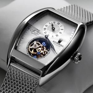 Astboerg Barcelona Tourbillon Regulator Milanaiseband AT736SWM Handaufzugsuhr