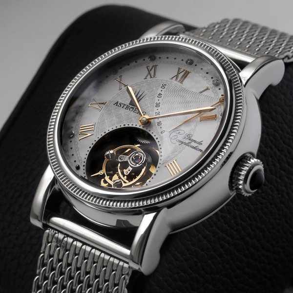 Astboerg Tourbillon Grande Complication AT701SWM Milanaiseband mit Diamanten